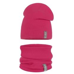 Komplet dziewczęcy czapka + komin EV032